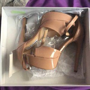 Steve Madden Blush Patten Platform heels